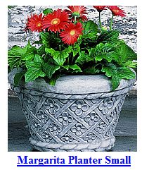 Flowered Stone Planter-small