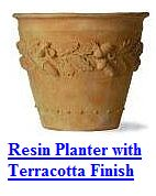 Resin based terracotta planter