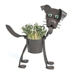 Buy metal dog planter